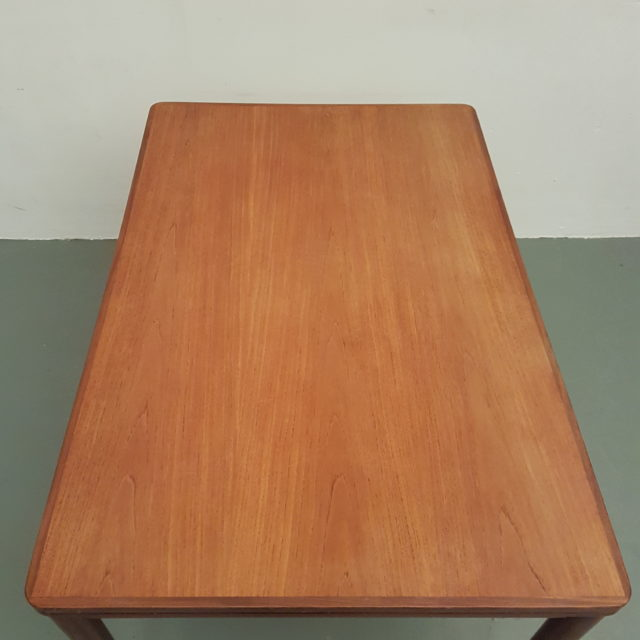 mid century teak extandable dining table by pastoe 1960s old