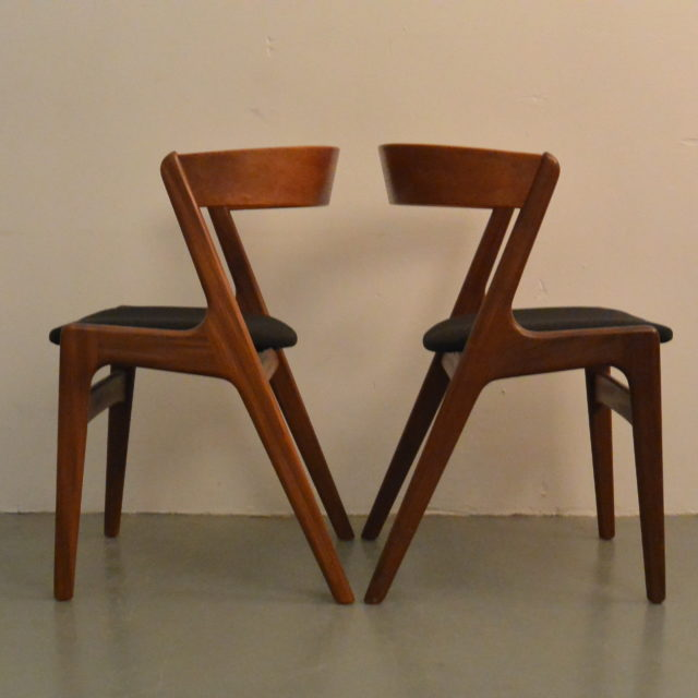Set Of 2 Kai Kristiansen U0027Fireu0027 Chairs For Sochu Andersen. (Sold)   Old  North Interiors