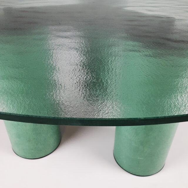 Postmodern Round Dining Table by Massimo Vignelli for Acerbis,1980s