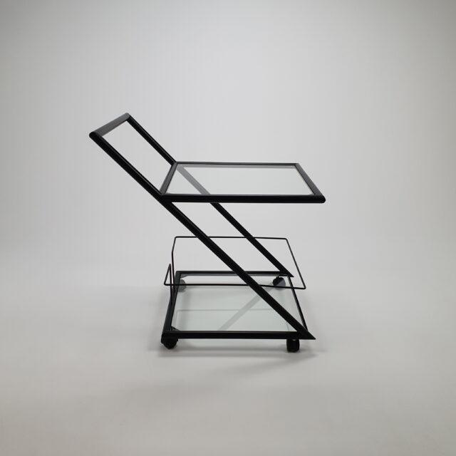 "Dutch postmodern ""Z"" serving trolley by Harvink, 1980s"