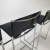 Set of 4 '164' Leather Barstools by Giandomenico Belotti for Alias, 1980s