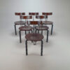 Set of 6 Postmodens Zeta Chairs by Harvink, 1980s