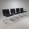 Set of 4 Cantilever Chairs in Tecta Style, 1970s